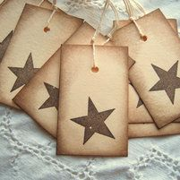 Primitive~vintage Style~july 4th~patriotic~linen Cardstock~gift~hang~tags Orders Are Welcome. Collectibles Holiday & Seasonal
