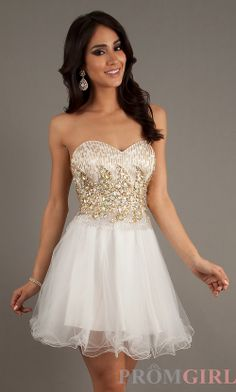 Beaded Homecoming Dresses, Short Beaded Party Dresses- PromGirl