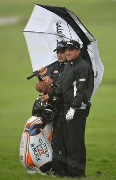 Darren Fichardt of South Africa ponders a shot during the weather delayed first round of The Nelson Mandela Championship at Mount Edgecombe Country Club on December 12, 2013 in Durban, South Africa.