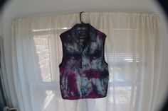 TieDye Denim Vest Purple and Black Marc Ecko x by SteezyWorkz  http://www.steezyworkz.com