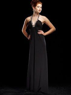 2014 Style A-line Halter Beading Sleeveless Floor-length Chiffon Prom Dresses/Evening Dresses