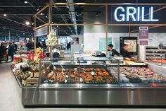 Deli counter at Albert Heijn XL retail concept by BLINK