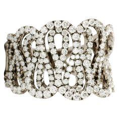 "Plukka """"S Curve"""" 18K Black Gold Diamond Ring ($4,800) ❤ liked on Polyvore…"