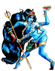 Kali with colors by MySweetPhantom.deviantart.com on @DeviantArt