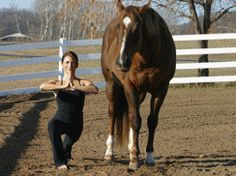 yoga and horse riding