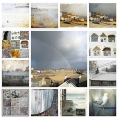 textile artist photography and mixed media - Carolyn Saxby Textile Art St Ives Cornwall Carolyn Saxby, St Ives Cornwall, Sky Full, Storm Clouds, Art Challenge, Textile Artists, Mixed Media Art, Color Inspiration, Home Art