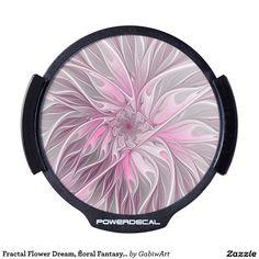 Fractal Flower Dream, floral Fantasy Pattern LED Car Decal