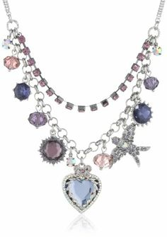 "Betsey Johnson ""Iconic Amethyst"" Crystal Heart Multi-Charm Necklace, 19"" Betsey Johnson,http://www.amazon.com/dp/B00DRCFU8U/ref=cm_sw_r_pi_dp_SbRBtb1ZKYVE5RQJ"