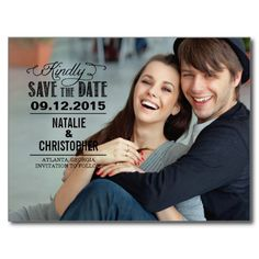 Charming Request Wedding Save The Date - Black Post Card
