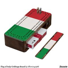 Flag of Italy Cribbage Board