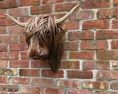 Half Scale Willow Highland Sculpture Animal Sculptures, Lion Sculpture, Twig Art, Traditional Baskets, Weaving Techniques, Wood Art, Statue, Mini, Masks