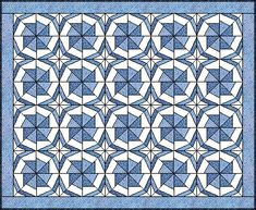 """Wheel of Fortune PP pattern for 8"""" block"""