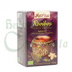 Yogi Tea, Infusión Ayurvédica Ecológica Rooibos, tiene sus raíces en el folclore africano, la canela, el jengibre, el cardamomo, el clavo y la pizca de pimienta
