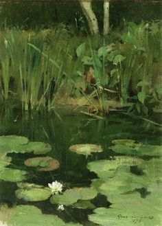 Water Lilies | Theodore Robinson | oil painting  - Prices starting at $159