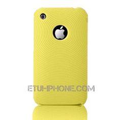 Etui silicone Spiral iPhone 3G Jaune sur http://www.etui-iphone.com/c/etui-iphone-3gs.awp