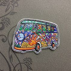 Sugar Bus patch Iron on patch Iron on Applique Sport hat patch bag patch Embroidered sew on patches