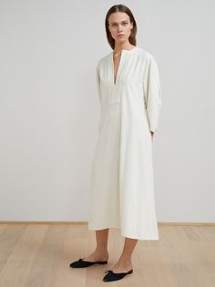 Marais raw silk dress - Totême