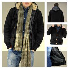 Warm man's knitwear!!! Ανδρική μαύρη ζακέτα πλεκτή με κουκούλα. Διαθέσιμη σε: Μαύρο και Μπορντό  #metaldeluxe #mensfashion #mensclothes #winterfashion #newarrivals #style #onlineshopping #shopping #cozy #knitwear