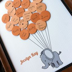 Baby Shower Guest Book Print Elephant