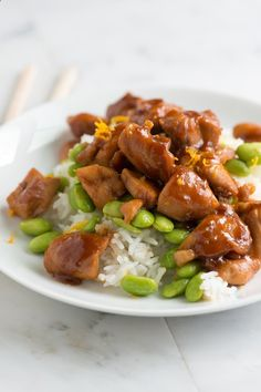 Orange Honey Teriyaki Chicken Recipe from www.inspiredtaste... #recipe #chicken #dinner