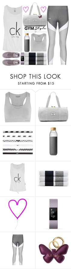 """0040"" by mykatty091 ❤ liked on Polyvore featuring Falke, Herschel Supply Co., NIKE, Soma, Calvin Klein, James Perse, A Little Lovely Company, Fitbit, Katie Loxton and Steel City"