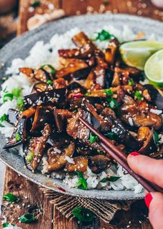 Pan-fried Chinese eggplants with spicy sweet sour chili garlic sauce - This easy vegan eggplant recipe makes a delicious appetizer or main course over rice! Chinese Eggplant Recipes, Vegan Eggplant Recipes, Spicy Eggplant, Eggplant Dishes, Vegetarian Recipes, Cooking Recipes, Sweet And Sour Eggplant Recipe, Eggplant With Garlic Sauce, Chinese Recipes