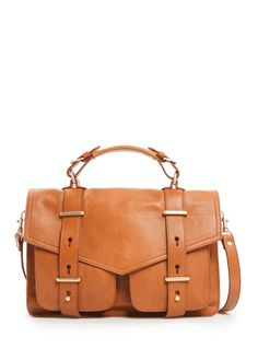 TOUCH - Leather satchel bag
