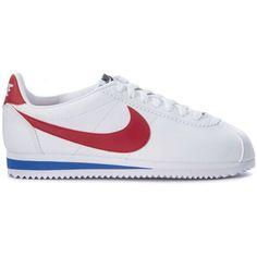 7f81055a231c7 Nike Sneaker Classic Cortez In Pelle Bianca Rossa E Blu - ShopStyle.  Zapatillas ...