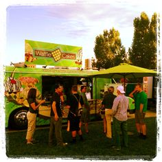 Waffle Cakes food truck at a local event this summer. #wafflecakes #wafflecakesfoodtruck #waffletruck #liegewaffletruck #nosyrup #foodtruckevents