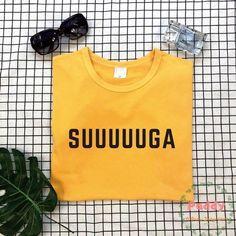Suuuuuga Cool Unisex T-shirt Bts Hoodie, Bts Shirt, Cheap T Shirts, Cool T Shirts, Kpop Fashion, Korean Fashion, Kpop Shirts, Bts Clothing, Kpop Outfits