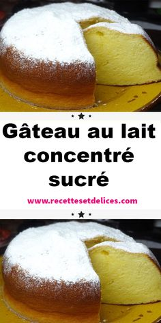 Gâteau au lait concentré sucré This recipe for sweetened condensed milk cake is quick and easy to make since it only requires 5 minutes of preparation. To be redone very quickly with other perfumes. Dessert Cake Recipes, Easy Desserts, Delicious Desserts, Other Recipes, Sweet Recipes, Food Cakes, Cupcake Cakes, Condensed Milk Cake, Thermomix Desserts