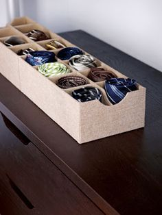Getting low on hanging space in your closet? Use this sock drawer for your ties