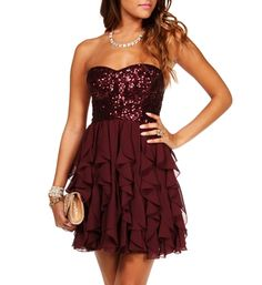 Clare-Burgundy Homecoming Dress || Bridesmaid dress?