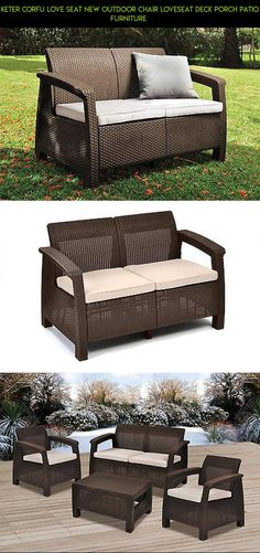 Keter Corfu Love Seat NEW Outdoor Chair Loveseat Deck Porch Patio Furniture  #parts #gadgets #camera #plans #shopping #drone #corfu #technology #products #patio #furniture #tech #kit #keter #racing #fpv