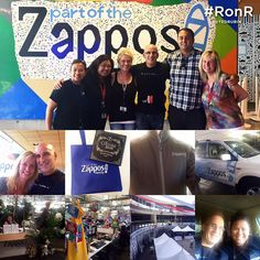 Amazing afternoon with the Zappos.com team. Thanks for the tour, the insights, lunch, and the conversation.   #RonR... #NoLetUp! — at Zappos Headquarters. Conversation, Insight, Photo Wall, Thankful, Lunch, Tours, Amazing, Photograph, Eat Lunch
