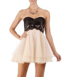Adabelle-Black/Nude Homecoming Dress. Hahahaha, I have this dress!!! And, since I'm so short, if fits way longer on me..