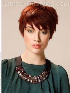 Textured Pixie Dramatic Red Style