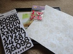 Supplies for the Love Frame, Valentine's Day