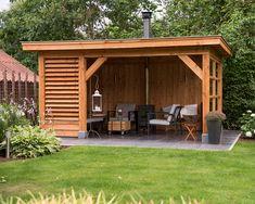 Tuinhuis Backyard Pavilion, Backyard Gazebo, Garden Gazebo, Backyard Patio Designs, Outdoor Pergola, Backyard Landscaping, Outdoor Garden Rooms, Garden Cabins, Screen House