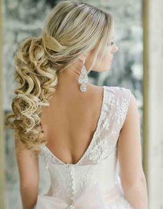 21 Classy and Elegant Wedding Hairstyles - MODwedding Cute Wedding Hairstyles, Homecoming Hairstyles, Elegant Hairstyles, Formal Hairstyles, Girl Hairstyles, Bridal Hairstyle, Hairstyle Ideas, Wedding Party Hair, Elegant Wedding Hair