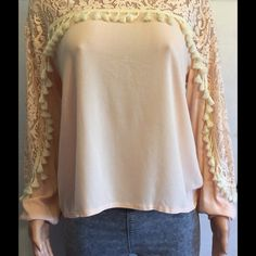 YA Los Angeles brand pink top with tassels Super cute great for spring top. Armpit to armpit measures 21 inches neck to bottom measures 22 inches. 15% off bundles YA los angeles Tops Blouses