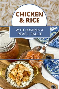 Chicken and rice is a simple classic but with this recipe, grab your skillet and make some tasty homemade peach sauce to go with it to add a whole new flavour. Plus get the tips on what kind of rice to use for what dish if you are a bit unsure.