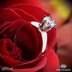 Vatche 6 Prong Solitaire Engagement Ring.