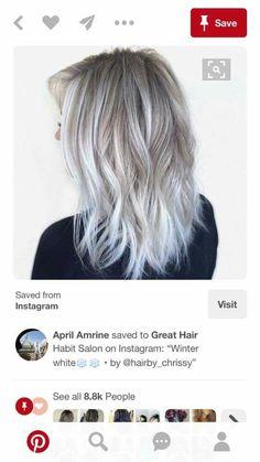 Grey Highlights, G Hair, Little Girl Hairstyles, About Hair, Hair And Nails, Hair Makeup, Hair Cuts, Hair Color, Hair Beauty