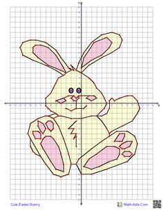 Four Quadrant Graphing Worksheets for Easter