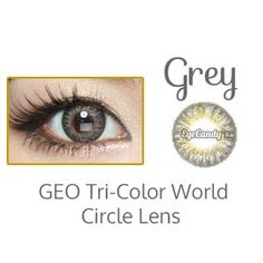 GEO Tri Color World Grey circle lens colored contact lenses cosmetic fashion eye contacts
