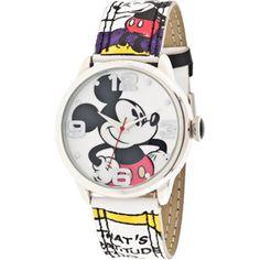 Disney Women's Mickey Mouse Comic Strip Watch                                                                                                                                                                                 More
