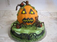 Halloween Pumpkin Cake by Think Sweet! Cakes by Trisha