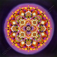 Harmony , a Crown Chakra Mandala by Vikki Reed