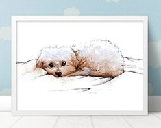 Puppy wall decor Puppy Nursery, Cool Dog Houses, Animal Art Prints, Maltese, Best Dogs, Dogs And Puppies, Teddy Bear, Wall Decor, Animals